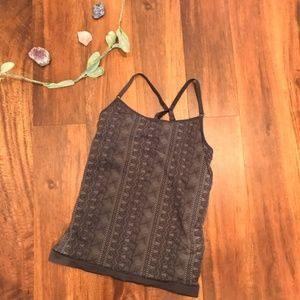 Athleta | Gray Patterned Work Out/Yoga Top